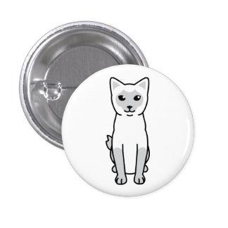 Mekong Bobtail Cat Cartoon Pinback Button
