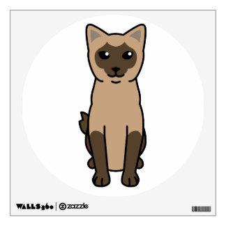 Mekong Bobtail Cat Cartoon Wall Sticker