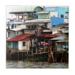Mekong River Houses Ceramic Tile