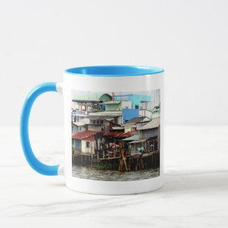 Mekong River Houses Mug