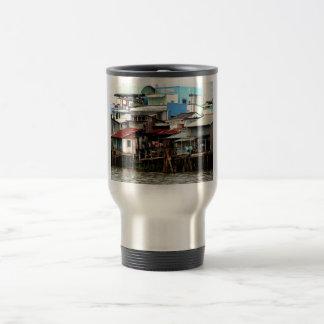 Mekong River Houses Coffee Mug