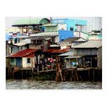 Mekong River Houses Postcard
