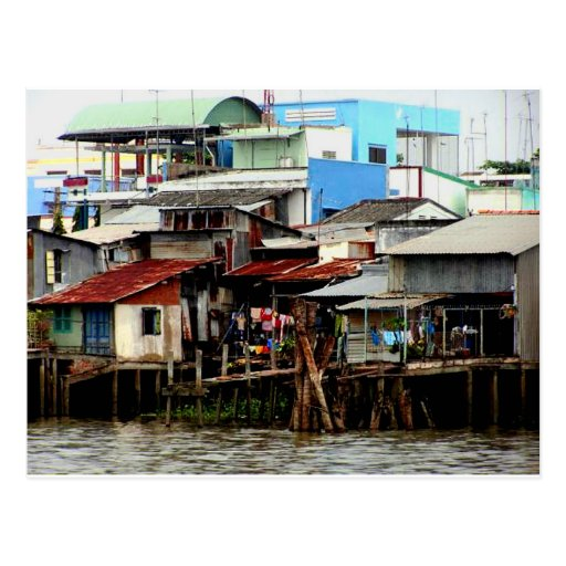 Mekong River Houses Postcards