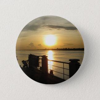 Mekong River Sunset ... Nong Khai, Isaan, Thailand Button