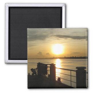 Mekong River Sunset ... Nong Khai, Isaan, Thailand Magnet