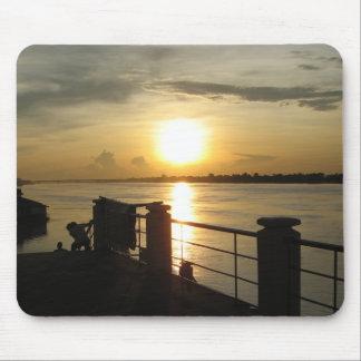 Mekong River Sunset ... Nong Khai, Isaan, Thailand Mouse Pad
