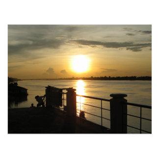Mekong River Sunset ... Nong Khai, Isaan, Thailand Postcard