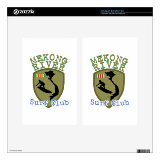 Mekong River Surf Club Decals For Kindle Fire