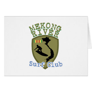 Mekong River Surf Club Greeting Card