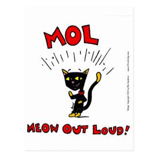"""Mel """"MOL: MEOW OUT LOUD"""" Postcard"""