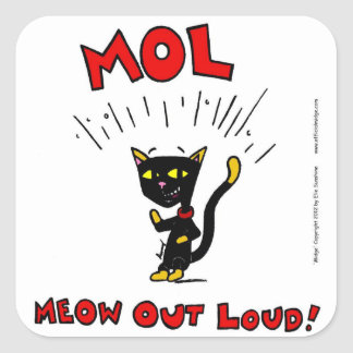 """Mel """"MOL: MEOW OUT LOUD"""" Stickers - Set of 20"""