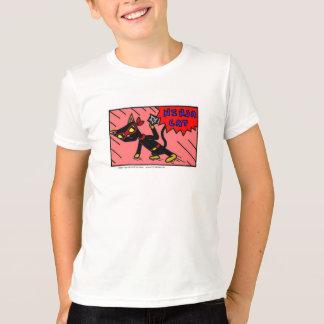 Mel NINJA CAT Kids Ringer T-Shirt