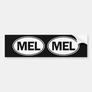 MEL Oval Identity Sign Car Bumper Sticker