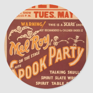 Mel Roy, 'Spook Party' Vintage Theater Classic Round Sticker