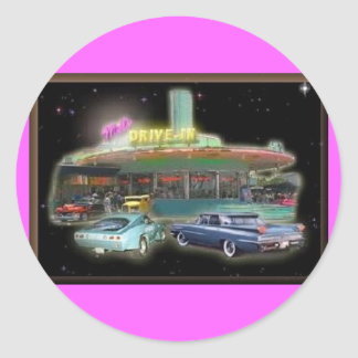 Mel s Drive-In Stickers round