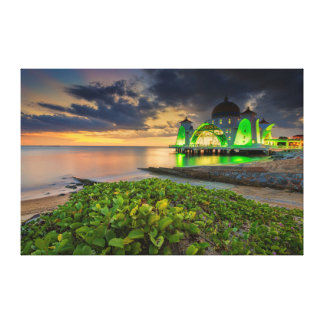 Melaka During Sunset | Masjid Selat Canvas Print