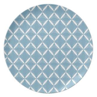 Melamina azul clara del Web Platos De Comidas