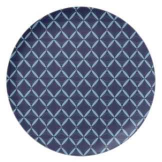 Melamina azul marino del Web Plato Para Fiesta