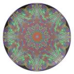 Melamina Plate_B&P del arte abstracto del efecto m Platos De Comidas