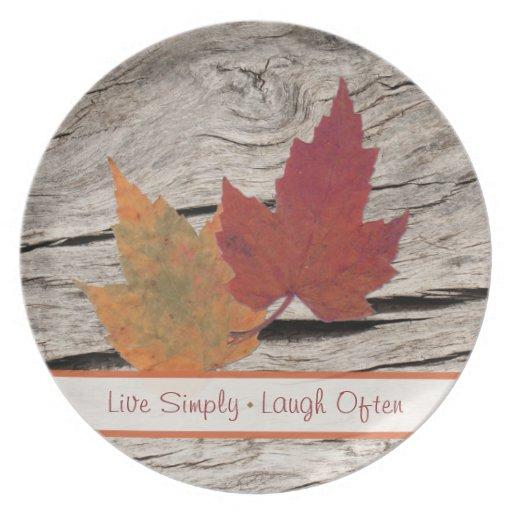 Melamina viva de la risa del esplendor del otoño s plato de cena