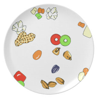 Melamine candy decorated plate