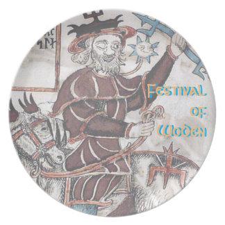 Melamine Festival of Woden Plate