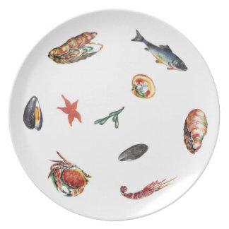 """Melamine Fish Plate 10"""""""