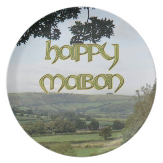 Melamine Happy Mabon Party Plate