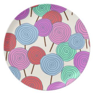 Melamine Pate- Pink Lollipops! Plate