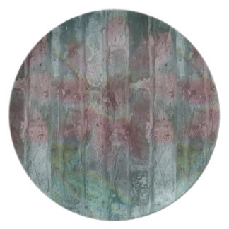 Melamine Plate Flower on the wall Plates