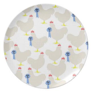 Melamine Plate- Prize Hens! Melamine Plate