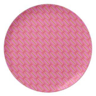 """Melamine plate """" shiaparrita """" pink color chapis"""