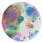 Melamine Plate- Watercolor!