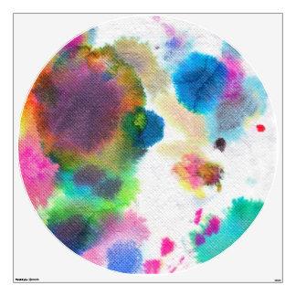 Melamine Plate- Watercolor! Wall Sticker