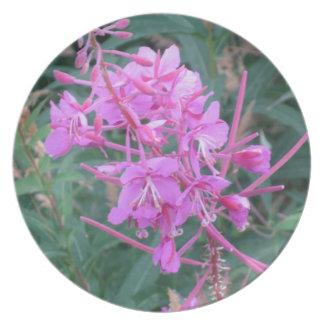 Melamine Plate: Wildflower Fairbanks Alaska Dinner Plates
