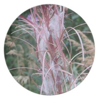 Melamine Plate: Wildflowers & Grasses in Alaska Dinner Plate