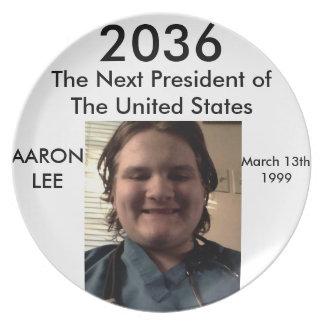 Melamine Presidential Campaign Plate