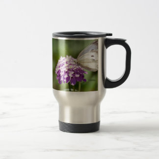 Melanargia larissa kind of anatolia butterfly travel mug