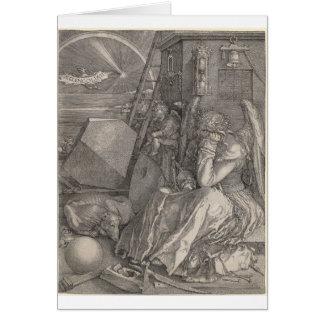 Melancholia I, Engraving by Albrecht Durer Greeting Card