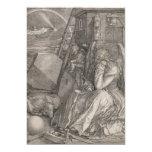 Melancholia I, Engraving by Albrecht Durer 5x7 Paper Invitation Card