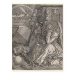 Melancholia I, grabando por Albrecht Durer Postal