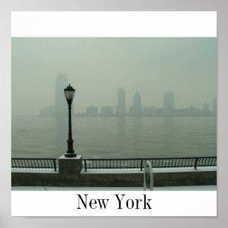 Melancholic New York Poster