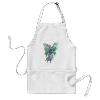 Melancholy Blue and Green Fairy - Watercolor Adult Apron