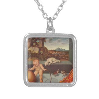Melancholy by Lucas Cranach the Elder Silver Plated Necklace
