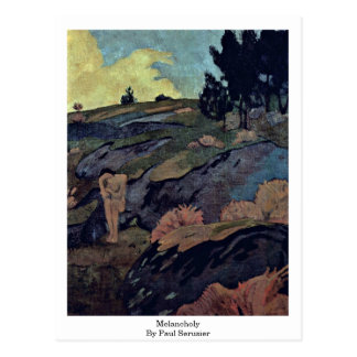 Melancholy By Paul Serusier Postcard
