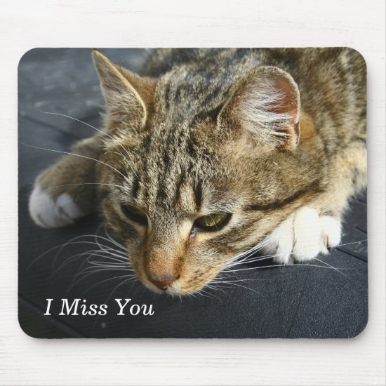 [Melancholy Cat] I Miss You Mouse Pad