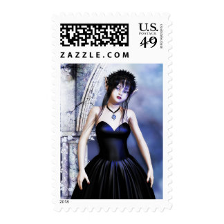Melancholy Day Dreams Gothic Art Postage Stamps