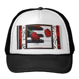 Melancholy Music and Roses Cap Trucker Hat