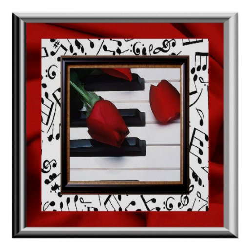 Melancholy Music and Roses Poster