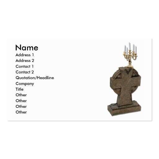 Melancholy, Name, Address 1, Address 2, Contact... Business Card